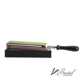 Двусторонний ремень с ручкой для правки опасной бритвы MUEHLE, кожа + текстиль