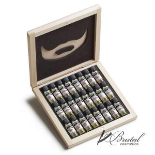 Подарочный набор масел для бороды The Bearded Man Company, 24 х 2мл, в деревянной коробке