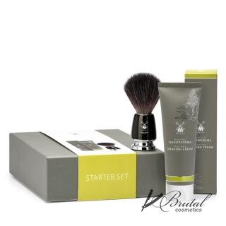 Подарочный набор для бритья MUEHLE, крем для бритья Алоэ Вера, черный помазок RYTMO с ворсом из фибры